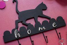 """Купить Ключница """"Кошка"""" - ключи, дерево, изделия из дерева, ключница, кошка, кот, декор для интерьера"""