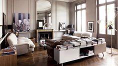 12 best warm neutral paint colors for your walls // painting Domaine Home, Living Area, Living Spaces, Living Rooms, Bertoia, Best Neutral Paint Colors, Paint Colours, Piece A Vivre, Interior Photography