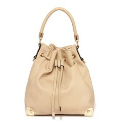 Neutral World Order Drawstring Beige Tote (€35) ❤ liked on Polyvore featuring bags, handbags, tote bags, beige, pocket tote, flat purse, shoulder strap handbags, beige tote bag and bucket bag
