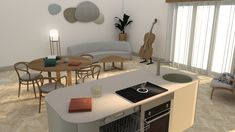Cello - simply duet of kitchen and living room Living Room Designs, Living Rooms, Cello, Corner Desk, Kitchen Design, Interior Design, Furniture, Home Decor, Lounges