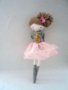Custom order for Alexandra Ballerina rag doll by lassandaliasdeana
