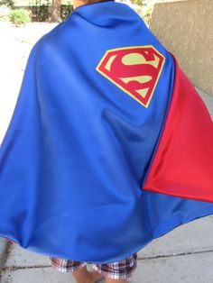 Superman Cape (by KatiesCapes on Etsy) Superman Cape, Grandma Crafts, Capes For Kids, Kam Snaps, Fancy Dress For Kids, Superhero Capes, Dress Up Costumes, Little Man, My Boys