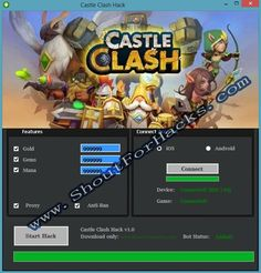 Castle Clash Hack Cheat 2016 tool download. With updated Castle Clash Hack you will have just fun. Try Castle Clash Hack tool. Castle Clash Hack working with last update.