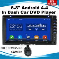 """6.8"""" Android 4.4 In Dash Car DVD Player Stereo 2 DIN monitor GPS 3G WIFI USB"""