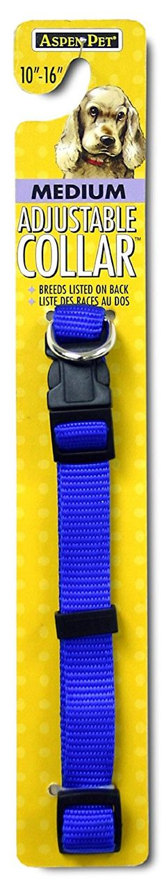 Petmate Adjustable Collar, 5/8 by 10 by 16-Inch, Blue >>> Check this awesome product by going to the link at the image. (This is an affiliate link and I receive a commission for the sales)