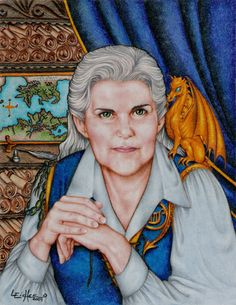 AnneMcCaffrey-I like the Dragon Riders of Pern series the best. But I have read most all of the books Anne McCaffrey has written. (Not Acorna series)