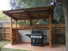 Backyard Bbq Shed . Backyard Bbq Shed . Outdoor Grill Area, Outdoor Grill Station, Outdoor Kitchen Grill, Backyard Kitchen, Outdoor Kitchen Design, Diy Bbq Area, Outdoor Cooking Area, Bbq Area Garden, Outdoor Kitchens
