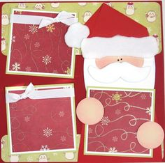 12 x 12 Premade Scrapbooking Layout Christmas Santa Wish List via Etsy