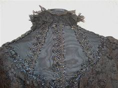 VISITE CAPE COLLET Perles de Jais Dentelle