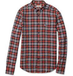 Burberry Brit Textured Cotton-Blend Plaid Shirt | MR PORTER