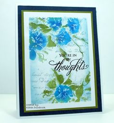 https://flic.kr/p/PhDCBX | CAS Watercolour-Thought of You | Here is a card I made using stamps from Penny Black. snippets-karen.blogspot.ca/2016/11/cas-watercolour-though...