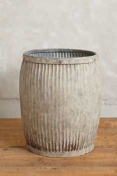 Galvanized Storage Barrel #anthropologie