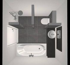 Small Bathroom with Shower, Bath, Washbasin and Toilet – Design – Beniers Bathroom … Kleines Badezimmer mit Dusche, Badewanne, Waschbecken und Toilette – Design – Beniers … –