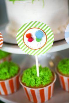 Project Nursery - lorax theme birthday party cupcakes
