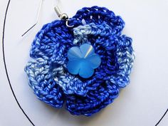 Crochet jewelry earrings with crochet cotton