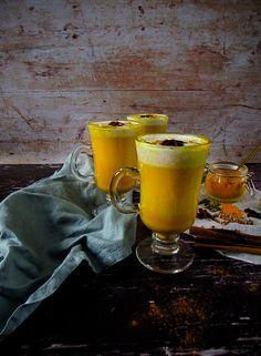 Golden Milk Chai with Coconut Whipped Cream Coconut Whipped Cream, Vanilla Cream, Coconut Milk, Throat Lozenge, Regulate Blood Sugar, Ground Turmeric, Golden Milk, Tea Strainer, Coriander Seeds