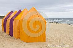 Beach tents by Claudia Fernandes, via Dreamstime