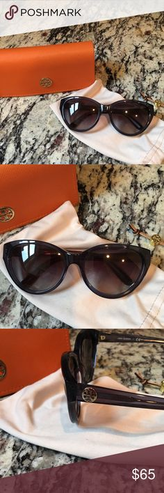 Tory Burch Sunglasses! Tory Burch Sunglasses - Navy. Pre-loved but still in great condition! Originally purchased at Nordstrom. Dust bag and case included. Tory Burch Accessories Sunglasses