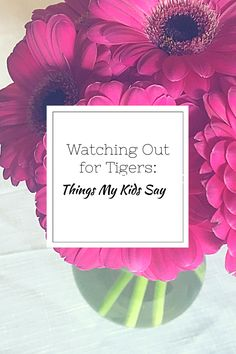 Watching Out for Tigers: Things My Kids Say