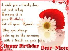 birthday wishes for a niece for facebook | Happy Birthday Wishes for My Niece