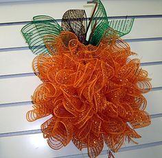 Deco Mesh Pumpkin - idea found on pinterest - fun and simple!