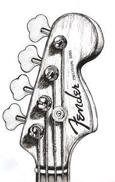 bass guitar drawing  Google search