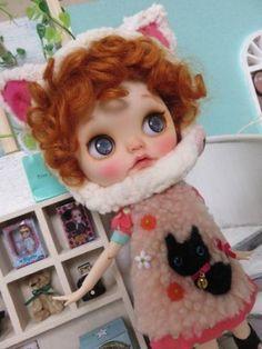 ◆ ~ ritta ~ Custom Blythe cat ◆ (USED)  Buy her here:   #blythe #blythedolls…