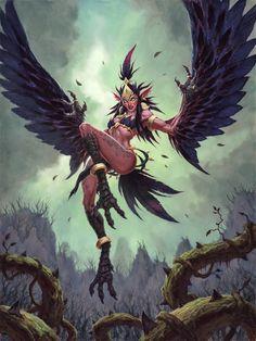 Anot of Foolishness Fantasy Races, Fantasy Rpg, Dark Fantasy Art, Fantasy Girl, Fantasy Artwork, World Of Warcraft, Warcraft Art, Fantasy Monster, Monster Art