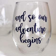 Throwback to this cutie  Engagement and wedding wine glasses are so fun to create!