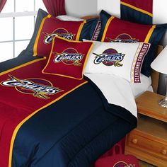 NBA Cleveland Cavaliers Comforter and Pillow case Set Basketball Group Logo design Bed linen - http://www.freetimebonanza.com/?product=nba-cleveland-cavaliers-comforter-and-pillowcase-set-basketball-team-logo-bedding-11