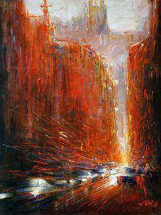 """Blurry Fourviere"" Art Print by Van Tame on Artsider.com"