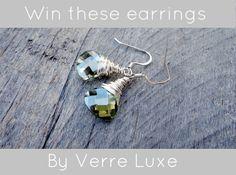 Win this pair of earrings