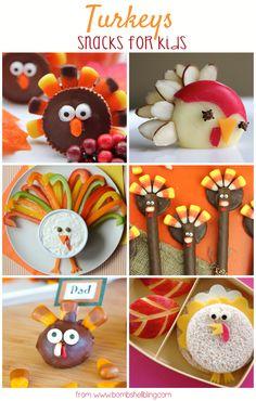 Turkey Snacks - So fun for Thanksgiving!