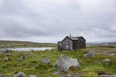 Einsames Haus auf der Hardangervidda