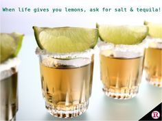 When life gives you #lemons, ask for #salt & #tequila! #SaturdayNight #Party