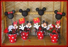 mickey mouse birthday party ideas | Mickey Mouse Birthday Centerpiece Decorations Mickey Mouse Birthday ...