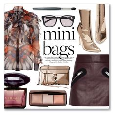 """""""So Cute: Mini Bags"""" by julijana-k ❤ liked on Polyvore featuring Versus, ANNA, Steve Madden, Givenchy, Rebecca Minkoff, Balmain, Versace, Hourglass Cosmetics, Laura Mercier and stylish"""