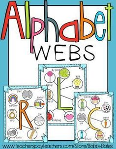 These webs are great visuals for your littles while they are working on their letters and sounds!! These are also available in my Learn the Alphabet Bundle, along with a black and white version!