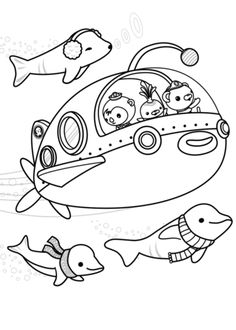 14 Best Octonauts Images Free Printable Coloring Pages Coloring