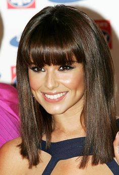 Love this clean cut fringe. I think the medium length hair is coming back into style. Away with unmanageably long hair!