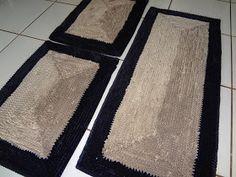 Mazzu Tapetes Decorativos  -   Tapete confeccionado com malha helanca, base jeans e viés nas bordas.   01 passadeira 1,20 m x 0,50 m  0...