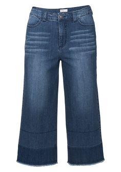 Jeans Culotte mit Fransen