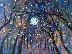 moonlight sparkly trees- can just imagine doing my spell work in a place like that ....simply magical