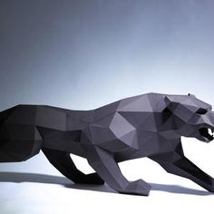 Pit bull Dog Paper Craft Digital Template Origami PDF | Etsy Rabbit Sculpture, Lion Sculpture, 3d Paper, Paper Crafts, Crafts For Boys, Dog Modeling, Black Paper, Paper Models, King Kong
