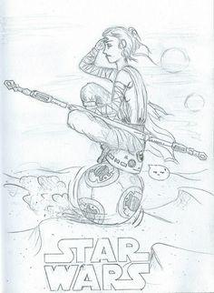 Moje małe dzieło zainspirowane najnowszym filmem STAR WARS. Mam nadzieję, że się podoba. Fanart by Justyna Gołojuch