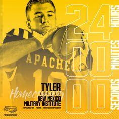 Tyler Junior College Football 24 hour countdown – cates.design Football 24, College Football, Junior College, Social Media, Design, Social Networks, Social Media Tips
