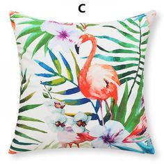Bird throw pillow decorative home artistic hand painted parrot pillow for couch