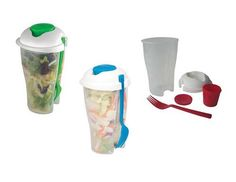 Salad Cup To Go Food Storage Take Away Lunch Box with Fork (Red / Green / Blue) http://cgi.ebay.com/ws/eBayISAPI.dll?ViewItem=330880657759