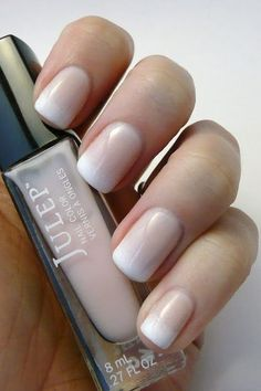 Gradient French Manicure...gorgeous and classy! Nail Design, Nail Art, Nail Salon, Irvine, Newport Beach
