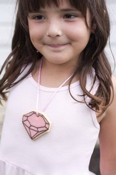 Adorable: make your own cookie gem necklaces.